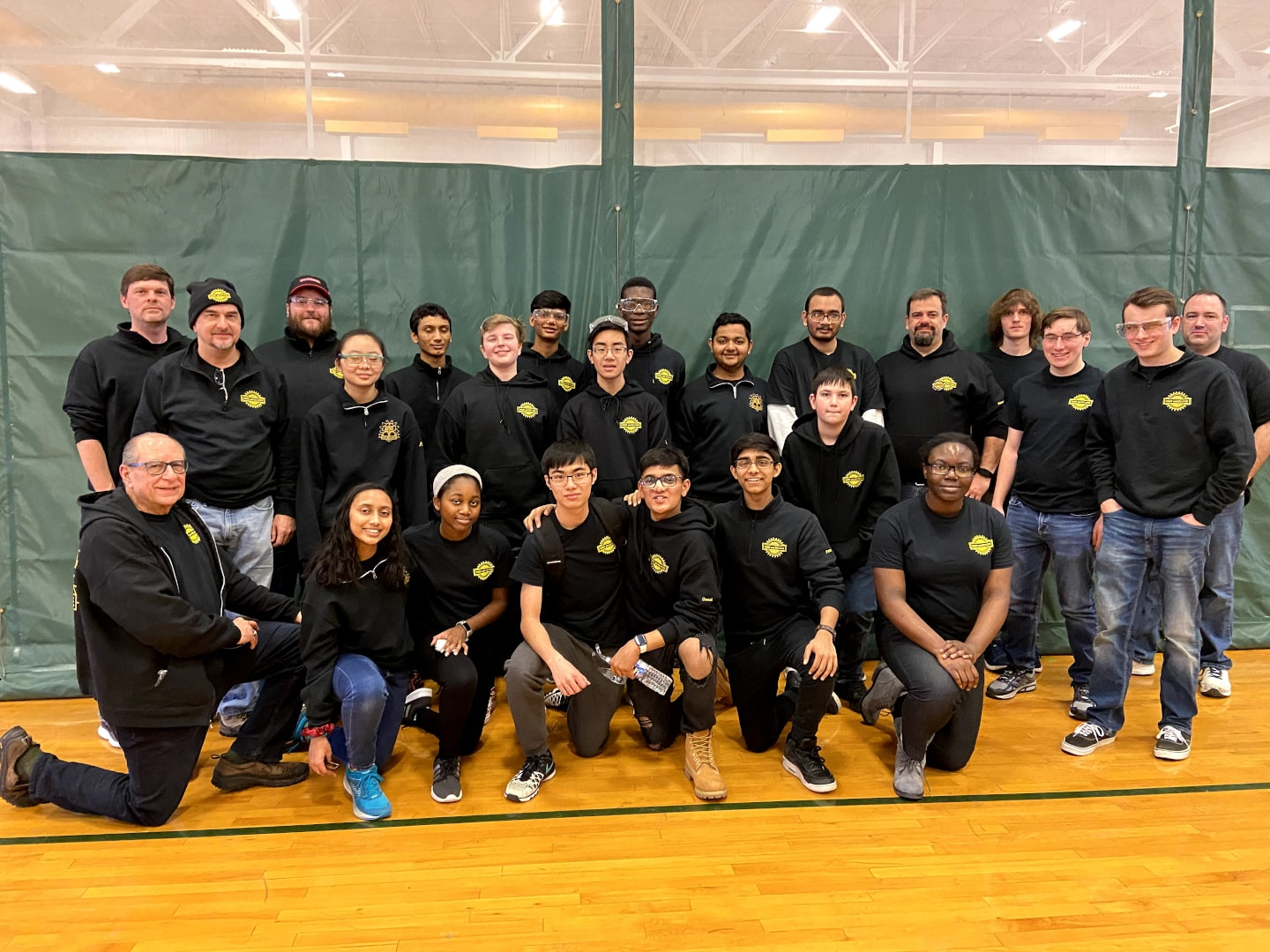 Group photo of Team 5962 at Bishop Guertin Week 0 Event 2020